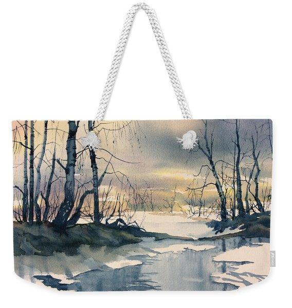 Melt Water On Skipwith Common Weekender Tote Bag