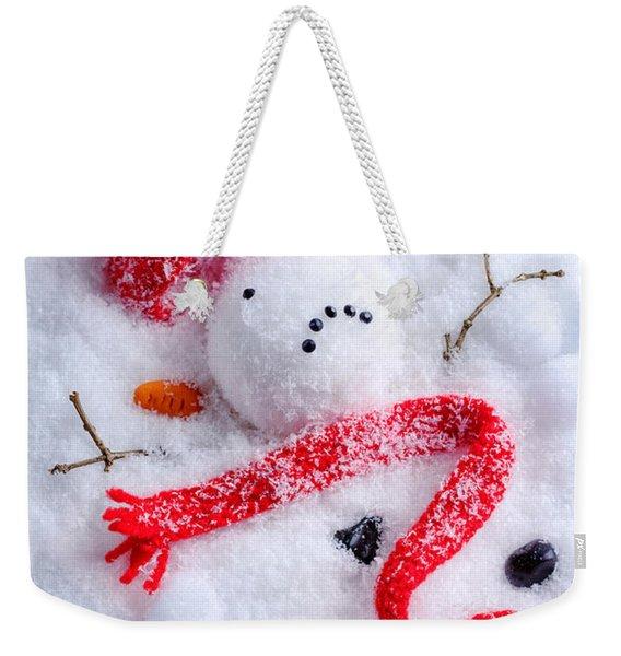 Melted Snowman Weekender Tote Bag