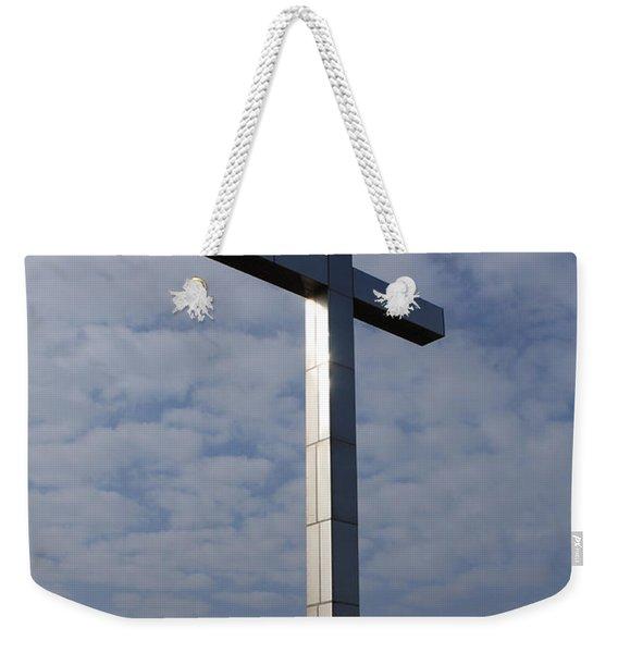 Memorial Cross At Gold Beach Weekender Tote Bag