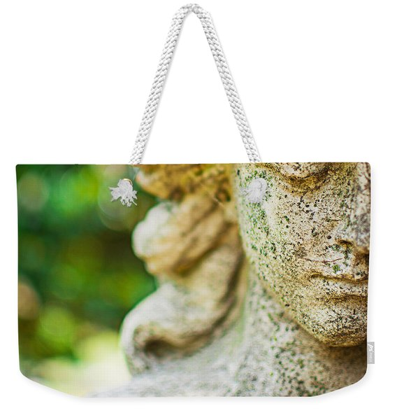 Memphis Elmwood Cemetery - Girl With Cross Square Weekender Tote Bag