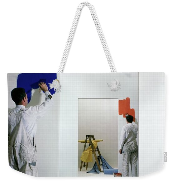 Men Painting Walls Weekender Tote Bag