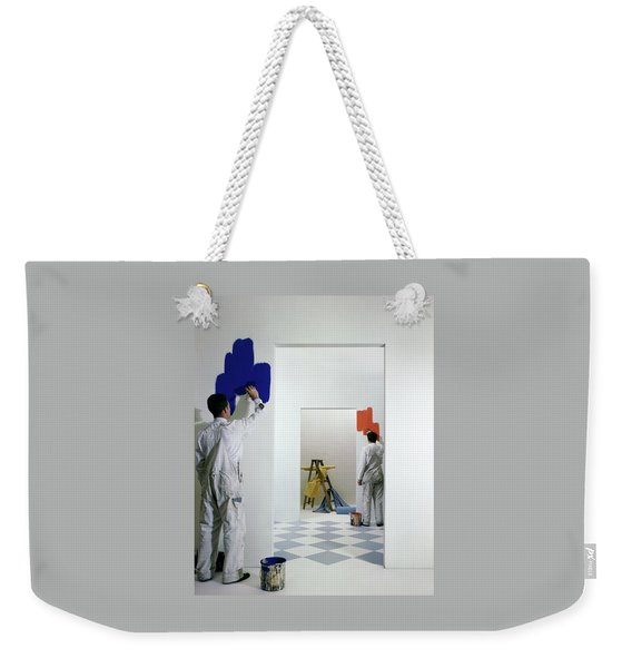 Men Painting Walls Weekender Tote Bag