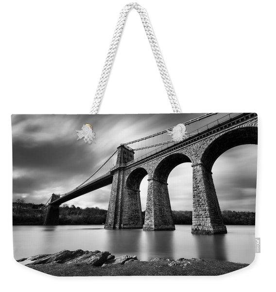 Menai Suspension Bridge Weekender Tote Bag