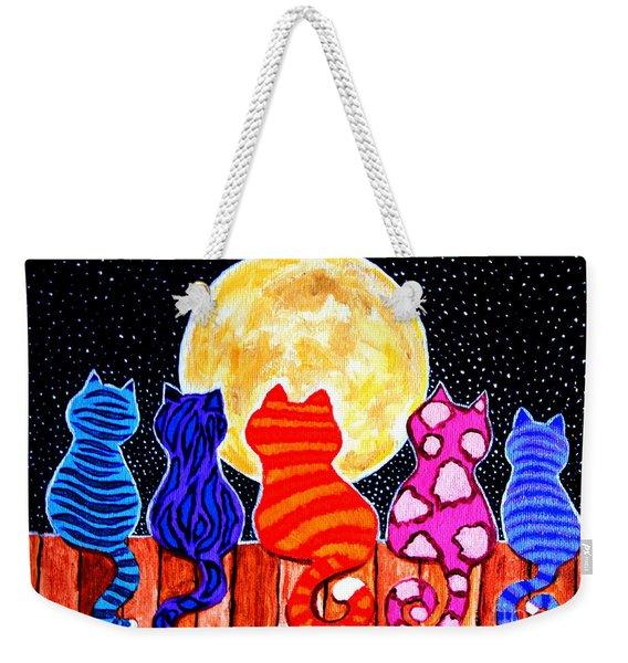 Meowing At Midnight Weekender Tote Bag