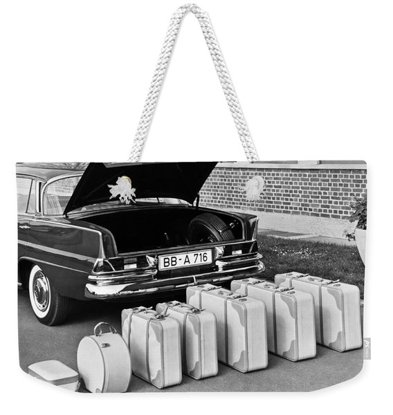 Mercedes-benz And Luggage Weekender Tote Bag