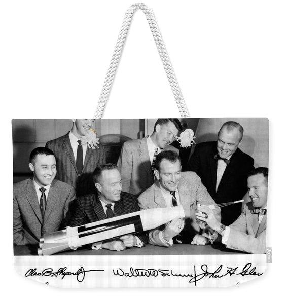 Mercury Astronauts With Atlas Model Weekender Tote Bag