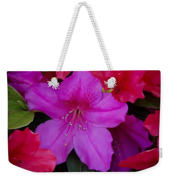 Merging Azaleas 2 Weekender Tote Bag