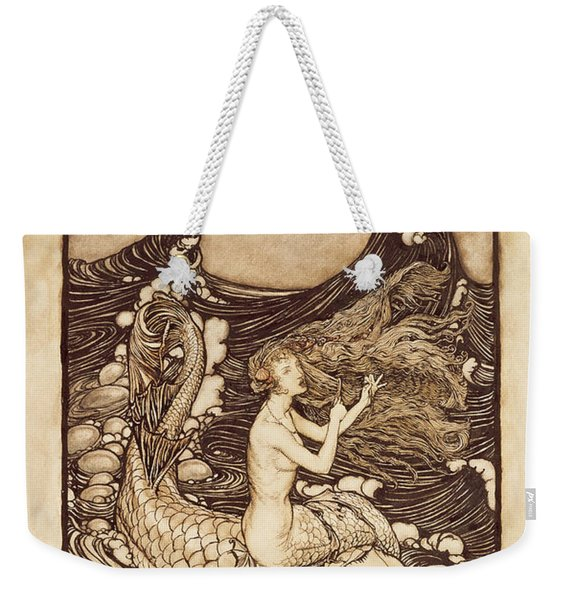 Mermaid And Dolphin From A Midsummer Nights Dream Weekender Tote Bag