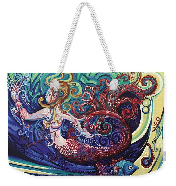 Mermaid Gargoyle Weekender Tote Bag