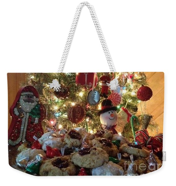Weekender Tote Bag featuring the photograph Merry Christmas by Laurie Lundquist