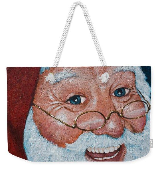 Merry Santa Weekender Tote Bag