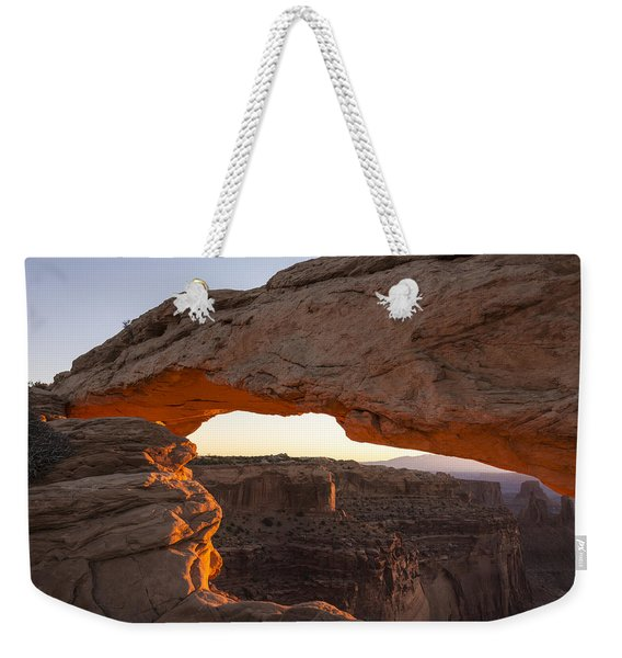 Mesa Arch Sunrise 2 - Canyonlands National Park - Moab Utah Weekender Tote Bag