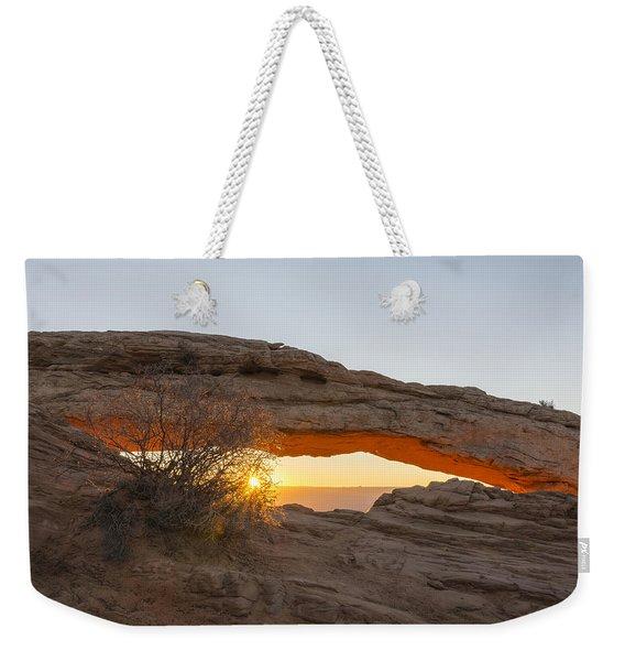 Mesa Arch Sunrise 3 - Canyonlands National Park - Moab Utah Weekender Tote Bag