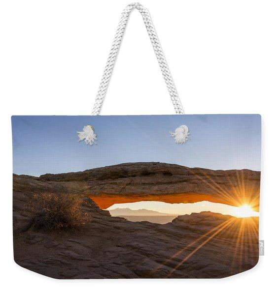 Mesa Arch Sunrise 7 - Canyonlands National Park - Moab Utah Weekender Tote Bag