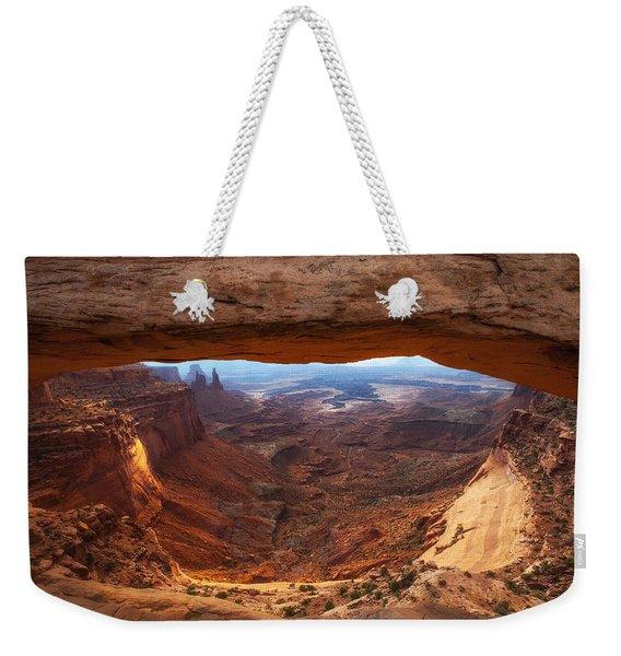 Mesa Sunrise Window Weekender Tote Bag