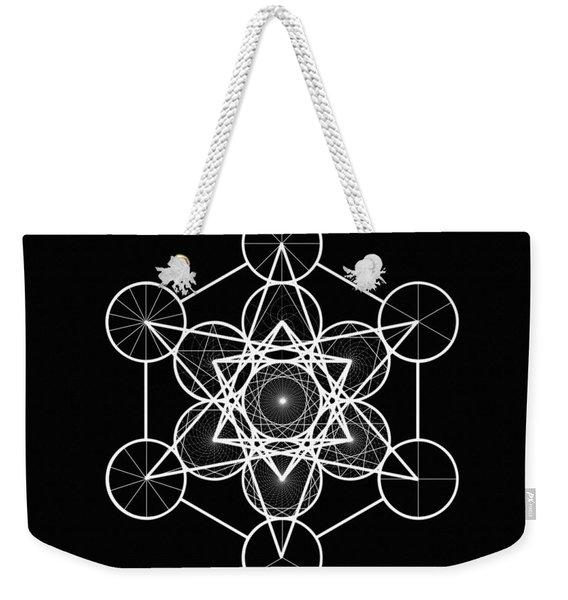 Metatron Wheel Cube Weekender Tote Bag