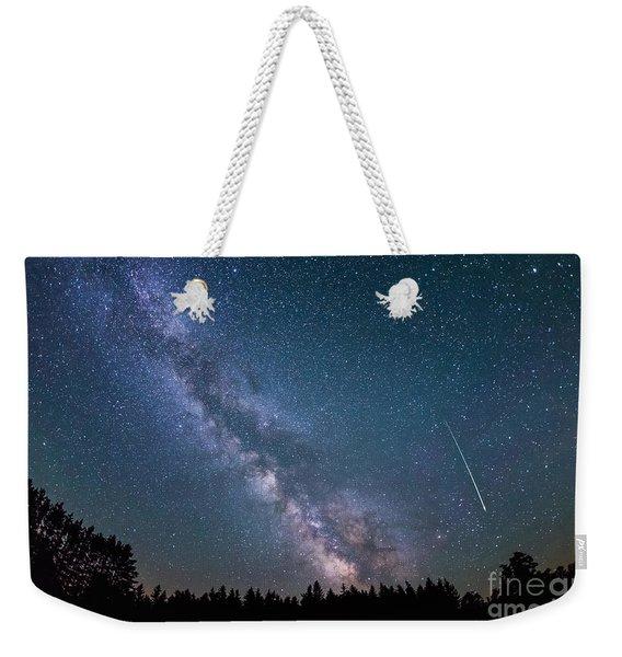 Meteor Milky Way  Weekender Tote Bag
