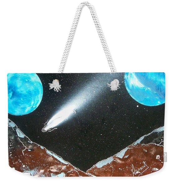 Meteor Moons Weekender Tote Bag