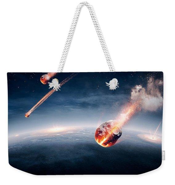Meteorites On Their Way To Earth Weekender Tote Bag