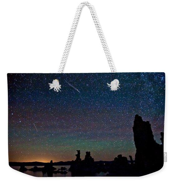 Meteors Over Mono Lake Weekender Tote Bag