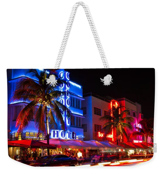 Miami Beach Ocean Drive Weekender Tote Bag