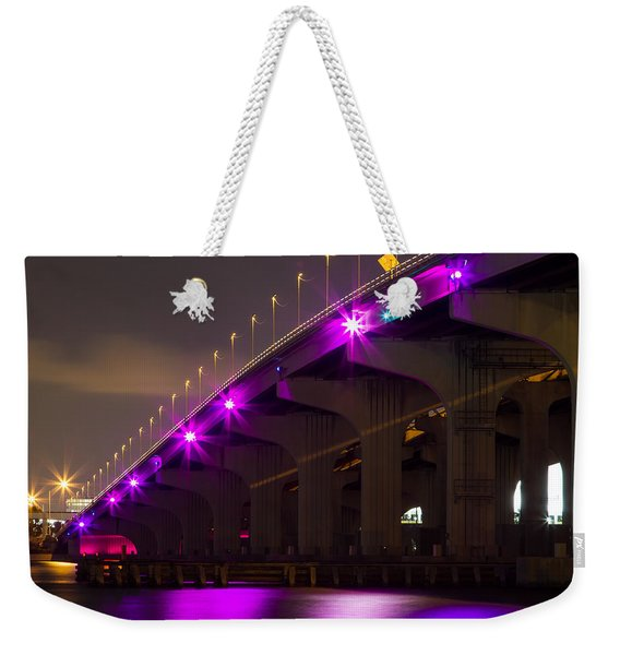 Miami Macarthur Causeway Bridge Weekender Tote Bag