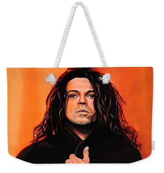 Michael Hutchence Painting Weekender Tote Bag