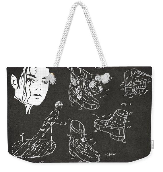 Michael Jackson Anti-gravity Shoe Patent Artwork Vintage Weekender Tote Bag