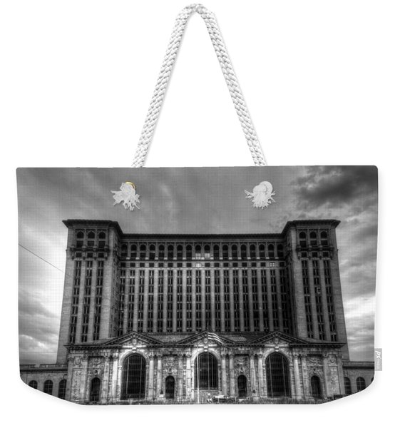 Michigan Central Station Bw Weekender Tote Bag