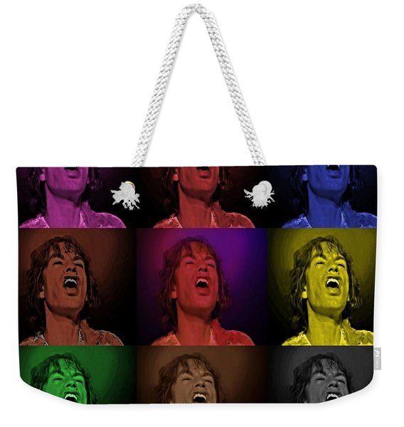 Mick Jagger Pop Art Print Weekender Tote Bag