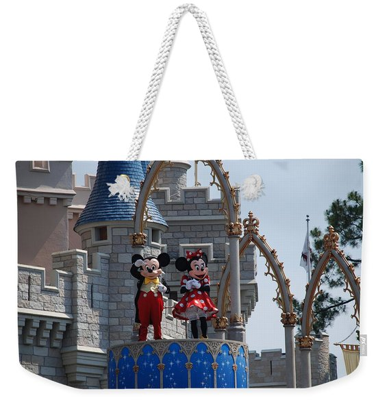 Mickey And Minnie In Living Color Weekender Tote Bag