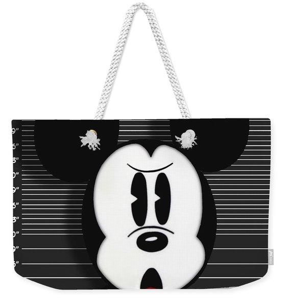 Mickey Mouse Disney Mug Shot Weekender Tote Bag