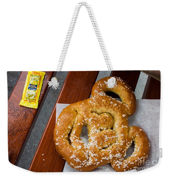 Mickey Mouse Shaped Pretzel Weekender Tote Bag