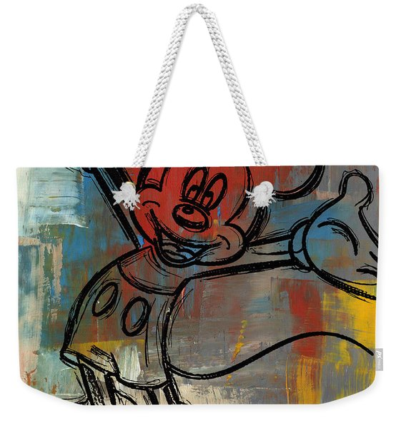 Mickey Mouse Sketchy Hello Weekender Tote Bag