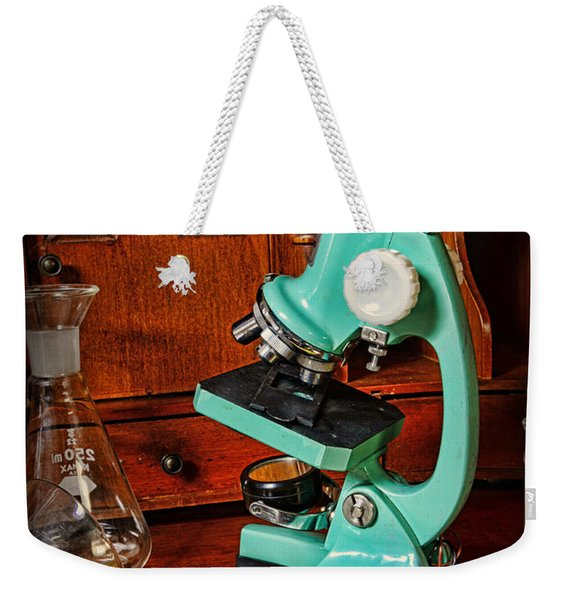 Microscope The Young Scientist Weekender Tote Bag