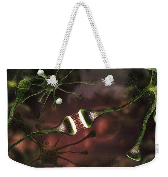 Microscopic Image Of Brain Neurons Weekender Tote Bag