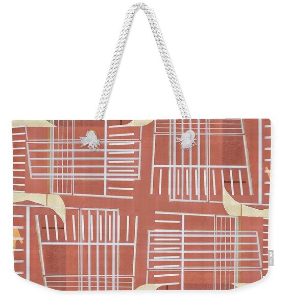 Mid-century Design Terra-cotta Weekender Tote Bag