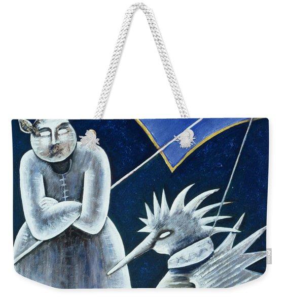 Midday Meeting Oil On Canvas Weekender Tote Bag