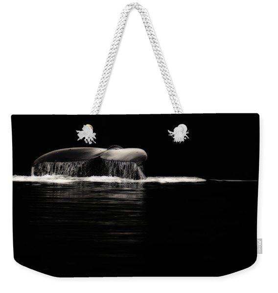 Midnight Humpback Weekender Tote Bag