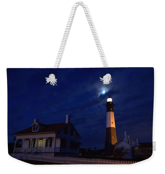 Midnight Moon Over Tybee Island Weekender Tote Bag