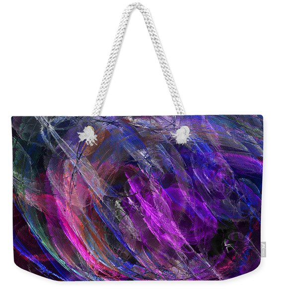 Midnight Rain Weekender Tote Bag