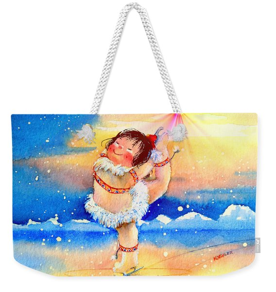 Midnight Sun Figure Skater Weekender Tote Bag