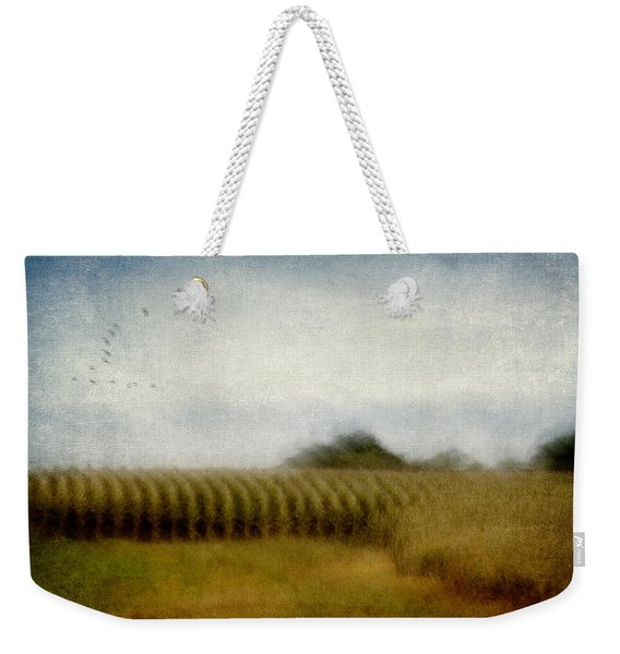 Midwestern Drive-by Corn Fields Weekender Tote Bag