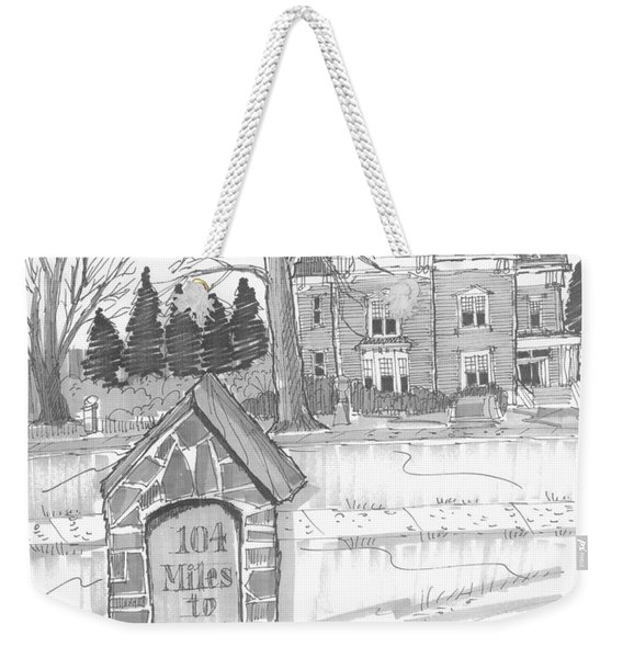 Mile Marker And Victorian Weekender Tote Bag