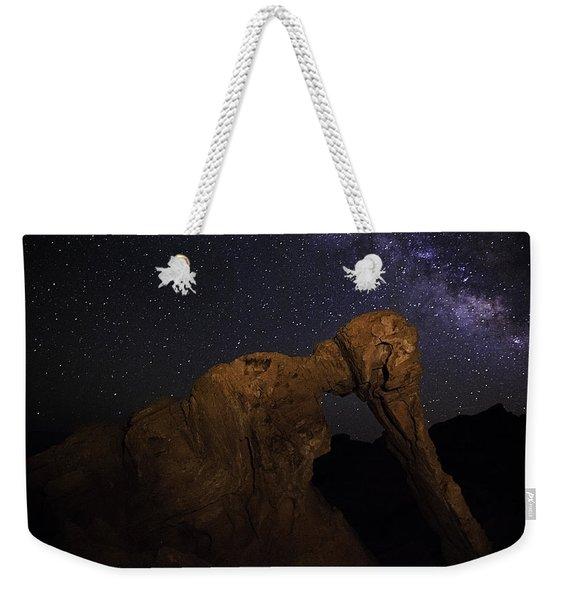Milky Way Over The Elephant 2 Weekender Tote Bag