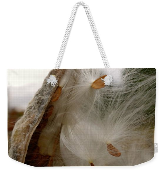 Weekender Tote Bag featuring the photograph Milkweed by Jacqueline Athmann