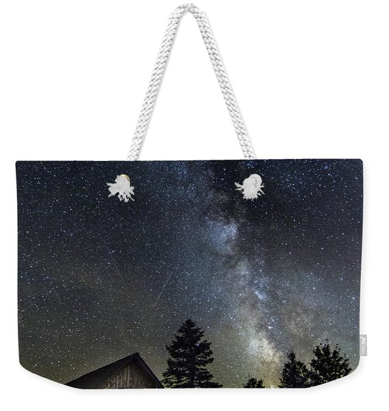Milky Way Over Foster Covered Bridge Weekender Tote Bag