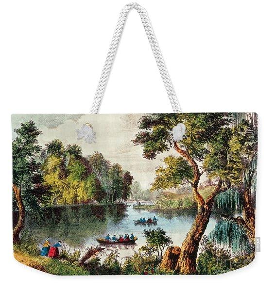 Mill Cove Lake Weekender Tote Bag