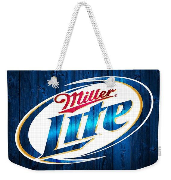 Miller Lite Barn Door Weekender Tote Bag