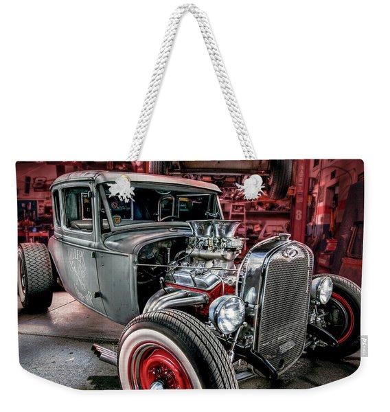 Millers Chop Shop 1931 Ford Coupe Weekender Tote Bag